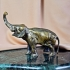 Бронзовая статуэтка - «Слон»