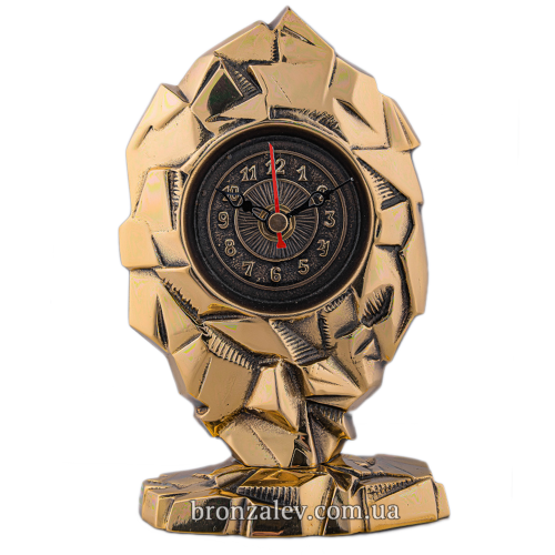 Бронзовые настольные часы «Вершина»