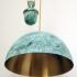 Лампа латунная полушарие с противовесом 5415