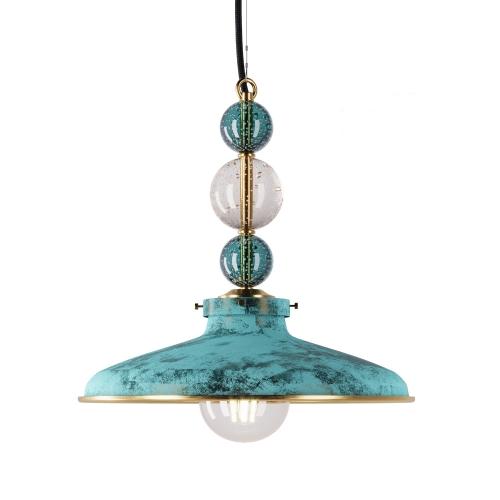 Люстра латунный со стеклянными шарами 5423
