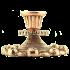 Бронзовый подсвечник на 1 свечу - «Розы»