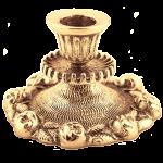 Бронзовый подсвечник на 1 свечу «Розы»