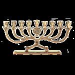 Менора из бронзы на 9 свечей «Ханукия»