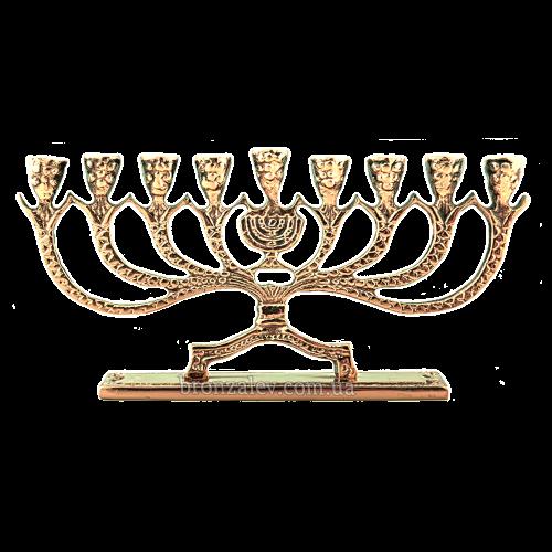 Бронзовая менорана 9 свечей «Ханукия»
