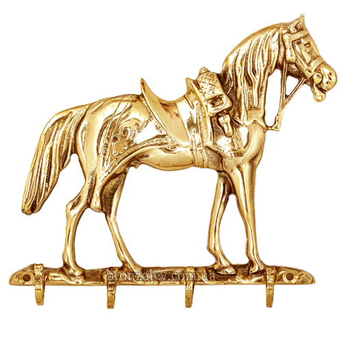 Настенная ключница из бронзы «Лошадь»
