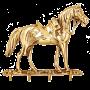 Бронзовая ключница на стену «Лошадь»
