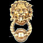 Дверной молоток из бронзы «Лев 5»