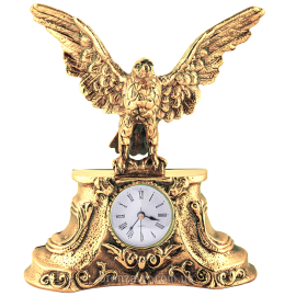 Бронзовые каминные часы «Орел»