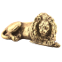 Статуэтка бронзовая - «Лев лежачий»