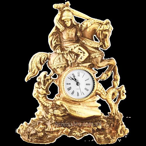 Бронзовые, настольные часы «Всадник с мечом»