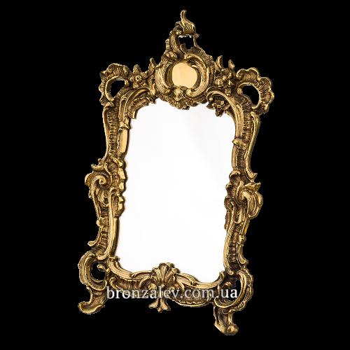 """Квадратное винтажное зеркало в бронзовой раме - """"Рококо"""""""