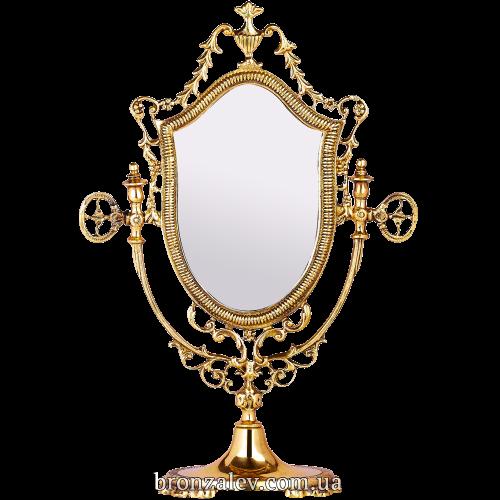 Настольное зеркало в бронзовом обрамлении — «Афродита»