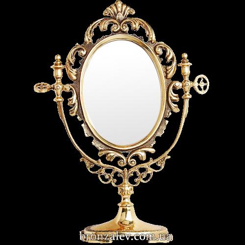 Настольное зеркало, в декоративной рамке в стиле «Барокко»