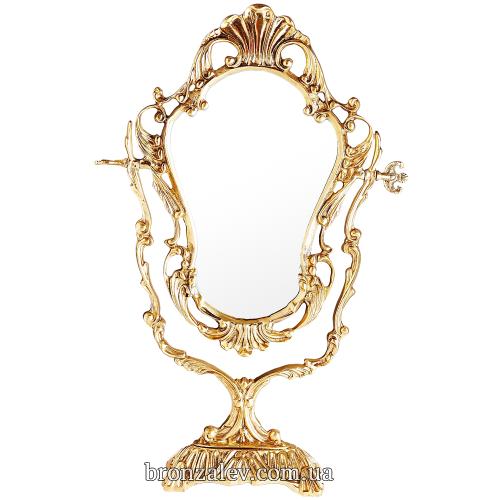 Настольное зеркало в изящной бронзовой раме — «Грация»