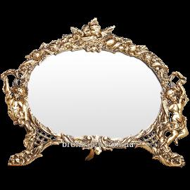 Зеркало в бронзовой раме «Амуры»