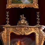 Декор интерьера бронзовыми изделиями.