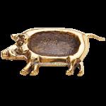 Бронзовая пепельница «Свинья»