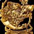 Ключница настенная из бронзы с 3 крючками — «Дикий кабан»
