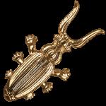 Подставка из бронзы для снятия обуви «Жук Скарабей»