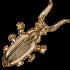 Подставка из бронзы для снятия обуви  — «Жук Скарабей»