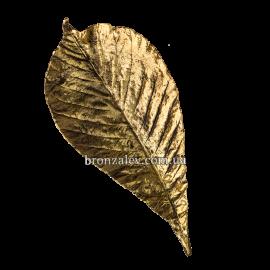 Пепельница бронзовая «Лист бука»