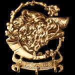 Ключница из бронзы «Дикий кабан»