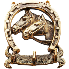 Ключница из бронзы «Две лошади»