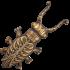 Рожок из бронзы для снятия обуви  — «Жук лакей»