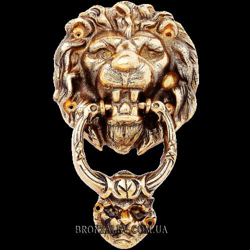 Стучалка дверная из бронзы — «Лев»