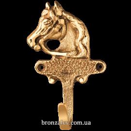Бронзовая вешалка (крючок) «Конь»