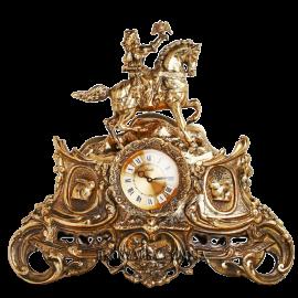 Каминные часы из бронзы