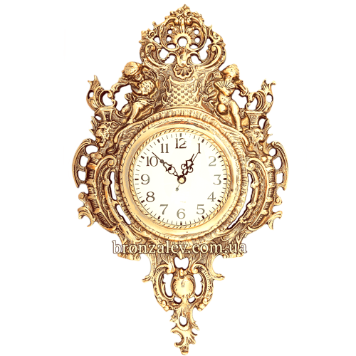 Часы из бронзы настенные «Херувимы»