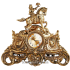 Каминные часы из бронзы с 2 бронзовыми подсвечниками для 3 свечей