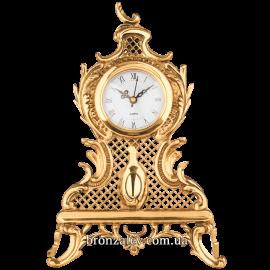 Часы из бронзы (настольные) «Ажурные»