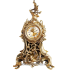 Каминные бронзовые часы с 2 подсвечниками из бронзы на 3 свечи