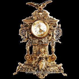 Каминные часы из бронзы «Ампир»