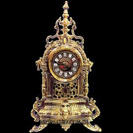 Часы из бронзы (каминные) «Индийская башня»