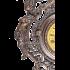 Настенные часы из бронзы «Кариатиды» в цвете под антиквариат