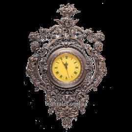 Бронзовые настенные часы «Кариатиды» (цвет Антик)