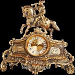 Часы из бронзы (каминные) «Охотник»