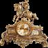 Бронзовые каминные часы «Охотник» с 2 бронзовыми подсвечниками для 2 свечей