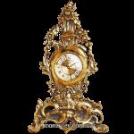 Часы из бронзы (каминные) «Венок из цветов»