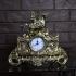 Часы бронзовые на каминную полку «Всадник с соколом»