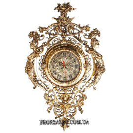Настенные часы из бронзы «Кариатиды»