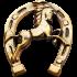 Декоративная, бронзовая подкова - «Конь»