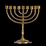 Ханукальная менора из бронзы на 9 свечей