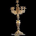 Бронзовый канделябр на 6 свечей «Версаль»