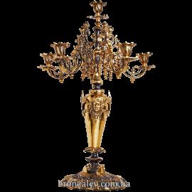 Бронзовый канделябр на 6 свечей  «Венеция»