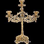 Подсвечник бронзовый на 3 свечи «Ажурный»