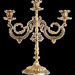 Подсвечник бронзовый на 3 свечи «Барокко»